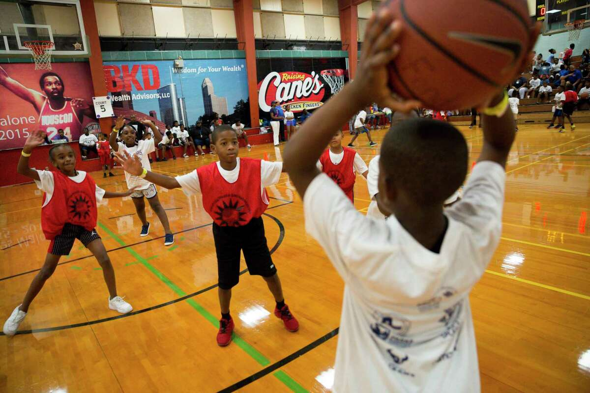 The campaign of the late Precinct 1 Commissioner El Franco Lee donated $1.5 million to the Street Olympics, an event he founded in 1986. Houston children participated in a 3-on-3 basketball tournament at the Fonde Recreation Center on Wednesday.