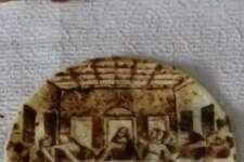 """San Antonio's Rob the Original created Leonardo da Vinci's """"The Last Supper"""" on a tortilla."""
