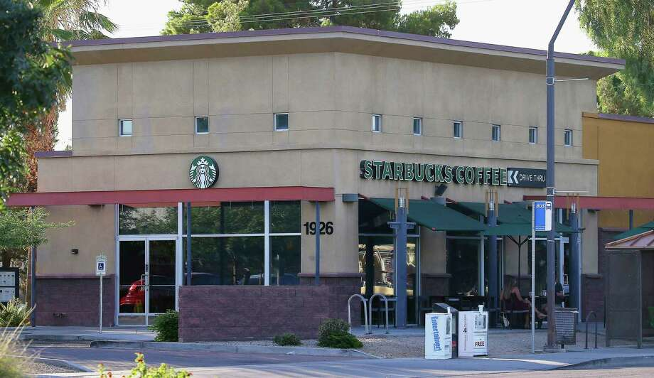 "This photo shows a Starbucks store Monday, July 8, 2019, in Tempe, Ariz., where six Tempe police officers were asked to leave on July 4. Tempe Officers Association President Rob Ferraro says Starbucks again apologized for the incident, and the police officers ""came away from the meeting feeling heard and respected."" (AP Photo/Ross D. Franklin) Photo: Ross D. Franklin / Copyright 2019 The Associated Press. All rights reserved"