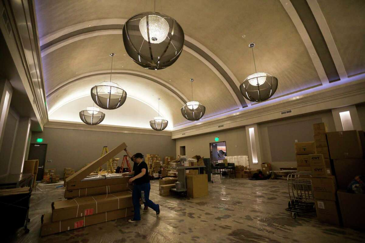 The Zoe Ballroom was restored from a 1914 silent movie theater in downtown's new AC Hotel in Houston, Tuesday, July 16, 2019. The hotel will open before the end of July.