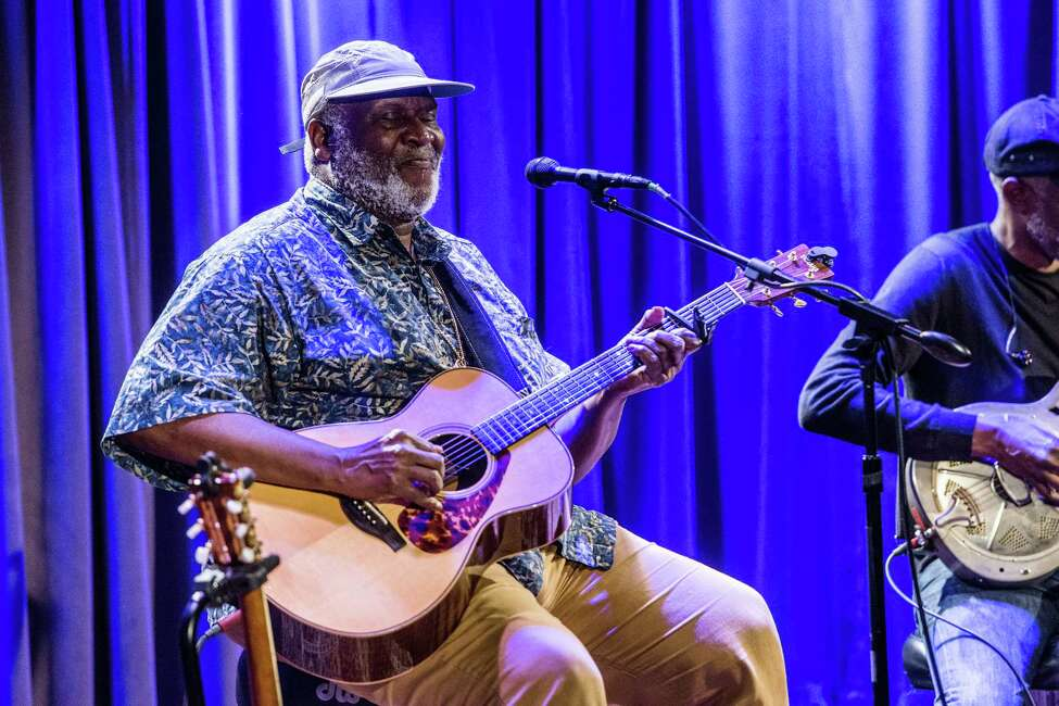 LOS ANGELES, CA - JUNE 09: Taj Mahal performs during The Drop: Taj Mahal and Keb' Mo' at The GRAMMY Museum on June 9, 2017 in Los Angeles, California. (Photo by Timothy Norris/Getty Images)