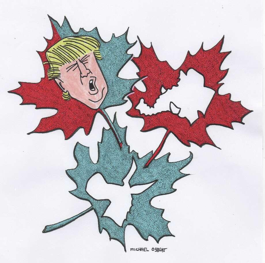 Michael Osbun cartoon about Donald Trump Photo: Michael Osbun / Michael Osbun