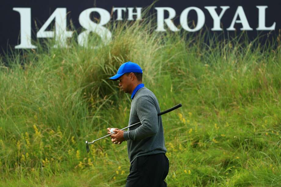 Tiger Woods shot 78, his highest first round score at a British Open. Photo: Mike Ehrmann / Getty Images