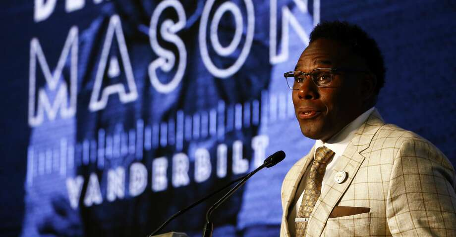 Vanderbilt head coach Derek Mason speaks to reporters during the NCAA college football Southeastern Conference Media Days, Thursday, July 18, 2019, in Hoover, Ala. (AP Photo/Butch Dill) Photo: Butch Dill/Associated Press