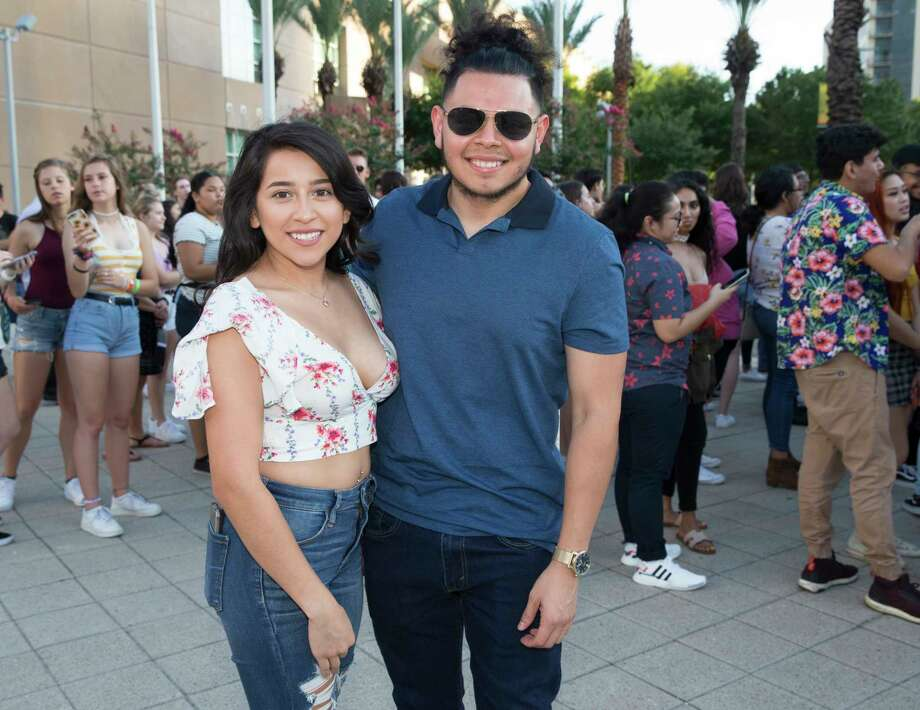 Khalid fans pose for a photograph before the Free Spirit World Tour concert at Toyota Center on Thursday, July 18, 2019, in Houston. Photo: Yi-Chin Lee, Staff Photographer / © 2019 Houston Chronicle