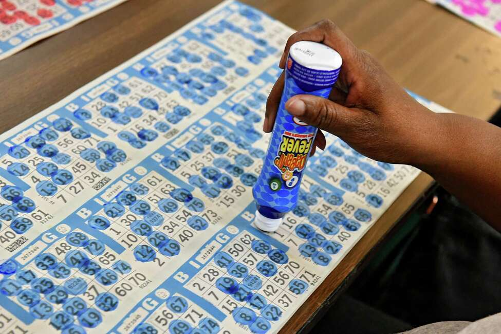 Long time Bingo player Mary Harris of Albany marks her cards as she plays Bingo with her sisters at the American Legion Post No. 1231 on Wednesday, May 15, 2019 in East Greenbush, N.Y. (Lori Van Buren/Times Union)