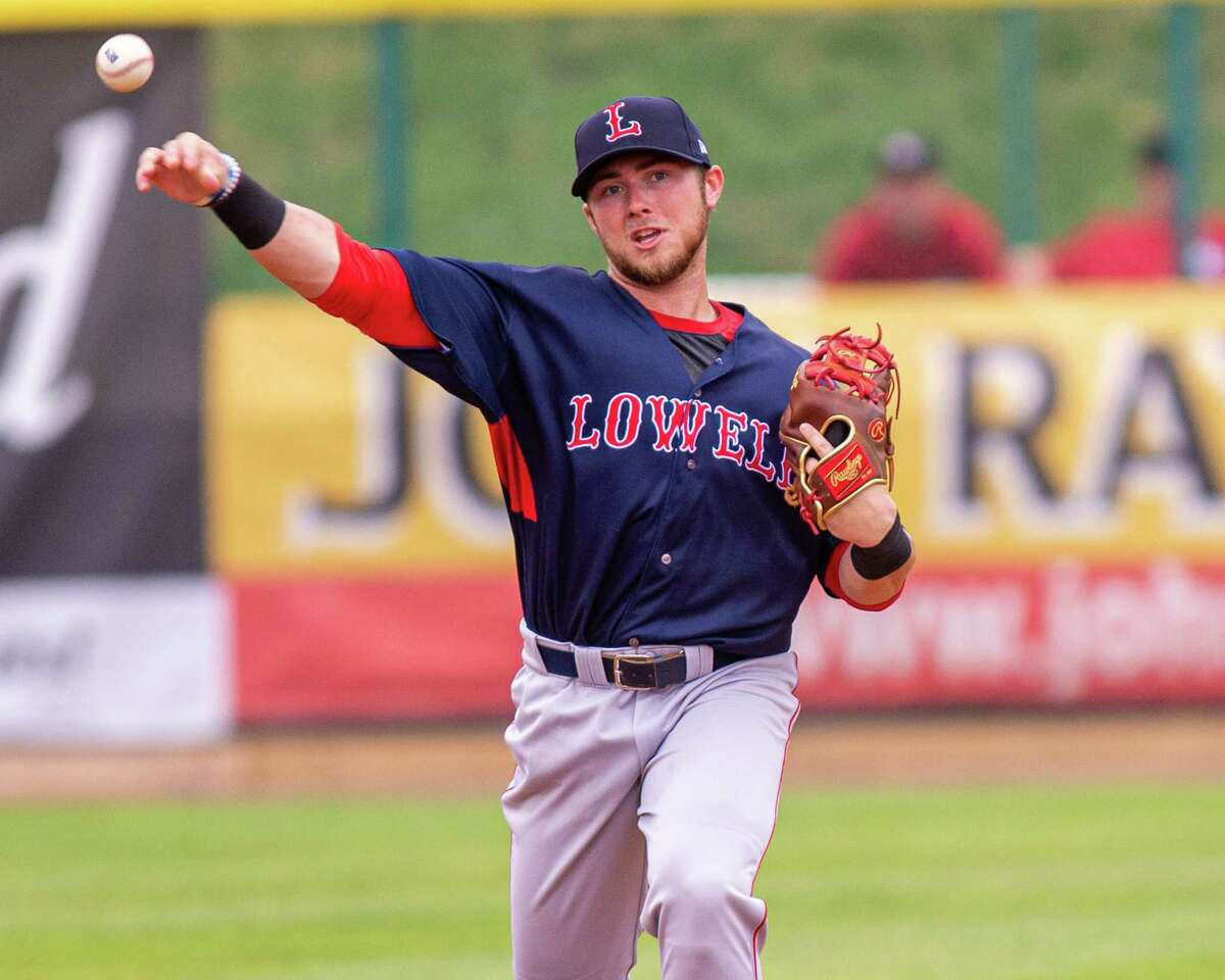 Lowell Spinners shortstop Cameron Cannon during a game against the Tri-City ValleyCats at the Joseph L. Bruno Stadium in Troy NY on Thursday, July 18, 2019 (Jim Franco/Special to the Times Union.)