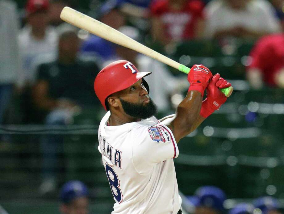 Rangers utility man Danny Santana has been on a tear of late, slashing .538/.571/1.115 over his last seven games. He's coming off a two-homer game on Wednesday. Photo: Richard W. Rodriguez, FRE / Associated Press / Copyright 2019 The Associated Press. All rights reserved.