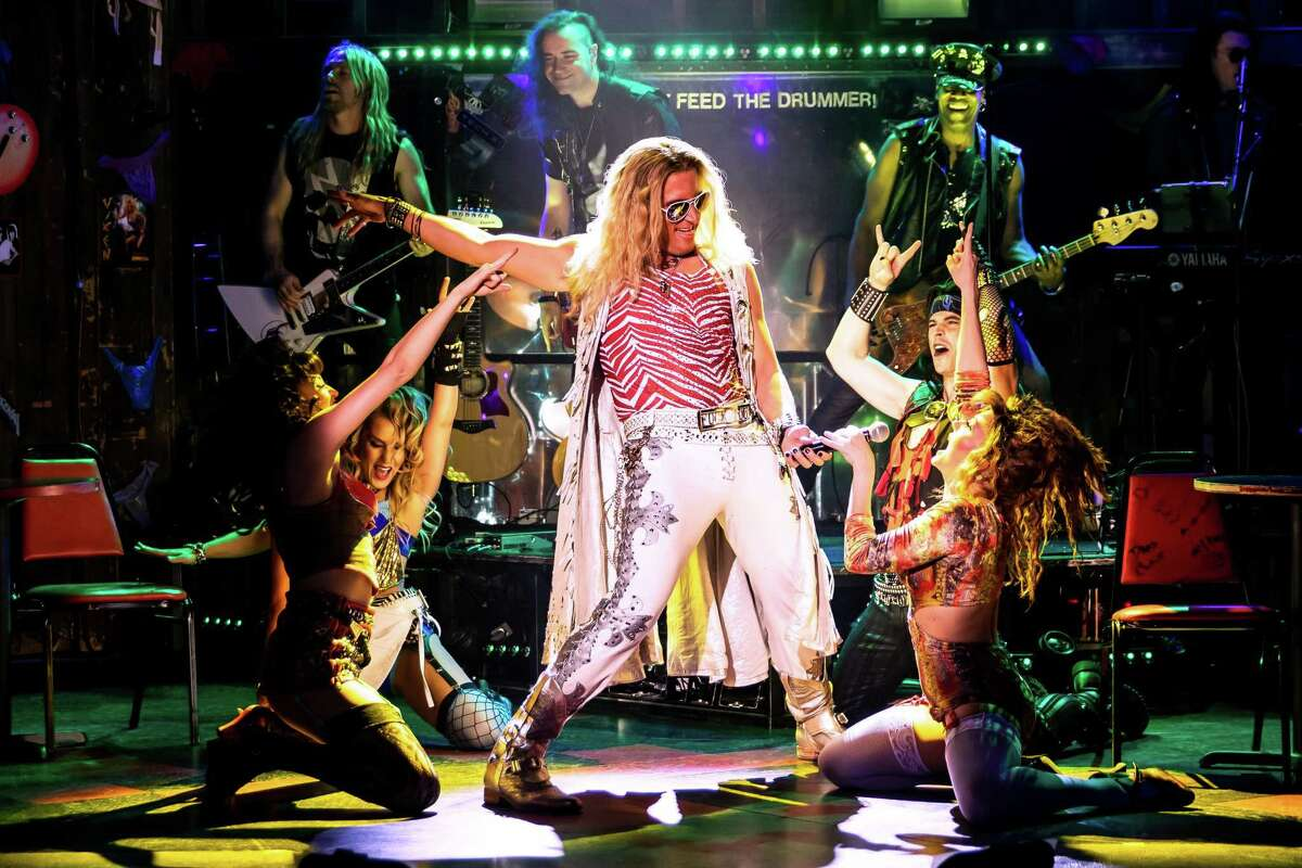 """P.J. Griffith and company in """"Rock of Ages."""""""