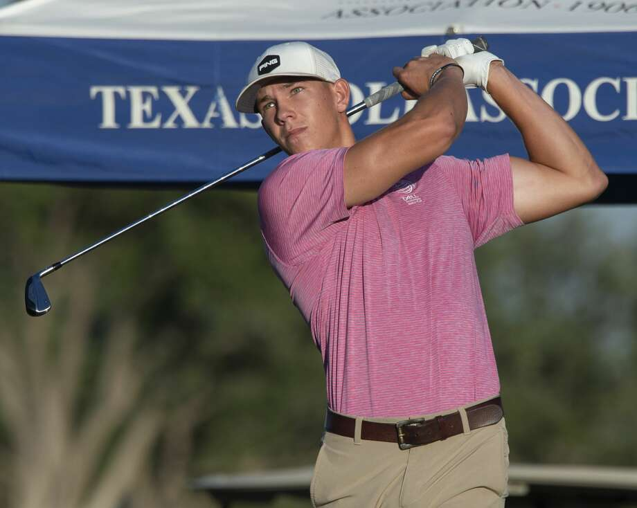 Bryce Waters follows his tee shot 07/19/19 in the opening round  of the West Texas Amateur golf tournament at Midland Country Club. Tim Fischer/Reporter-Telegram Photo: Tim Fischer/Midland Reporter-Telegram