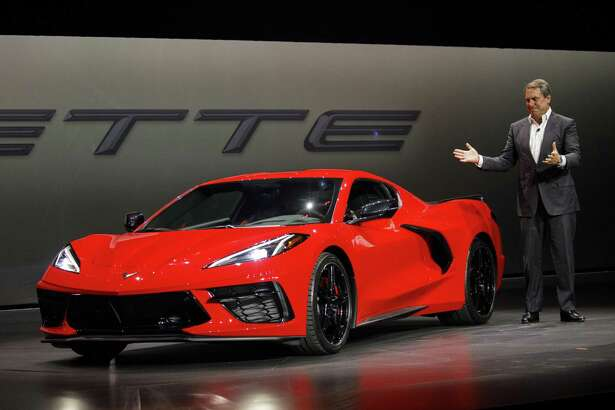 GM President Mark Reuss during an unveiling event for the GM 2020 Chevrolet Corvette Stingray sports car in Tustin, Calif., on July 18, 2019.