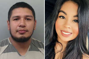This split screen photo shows Myriam Camarillo, right, and Joseph Steven Carrizales, left.
