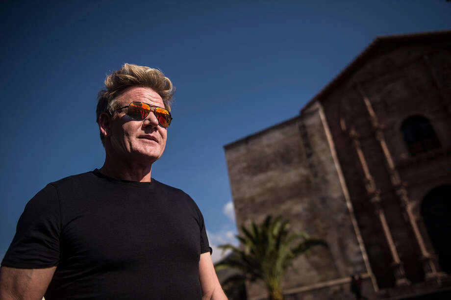 """The National Geographic series """"Gordon Ramsay: Uncharted"""" offers a cuddlier version of the fiery chef exploring the food cultures of Peru, New Zealand and Morocco. Photo: Ernesto Benavides/National Geographic / The Washington Post"""