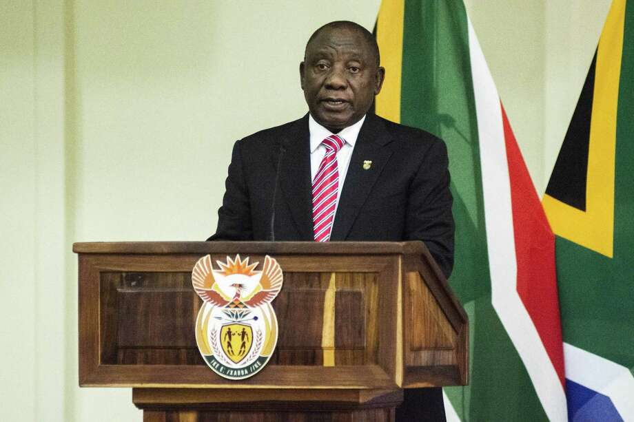 Cyril Ramaphosa, South Africa's president, speaks during a swearing-in ceremony in Pretoria on May 30, 2019. Photo: Bloomberg Photo By Waldo Swiegers. / © 2019 Bloomberg Finance LP