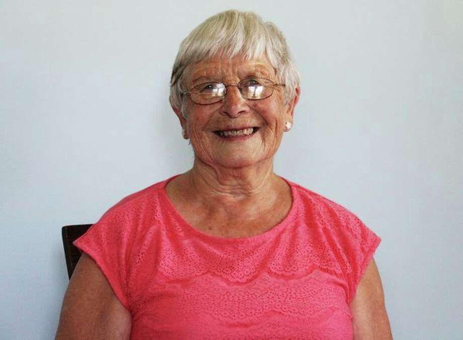 Joann Cove poses in her house. She was recognized by the Huron Community Fair Board as a 2019 Friend of the Fair. (Andrew Mullin/Huron Daily Tribune)