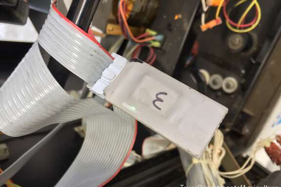 Two credit card skimmers were found at a Richmond gas station Thursday.