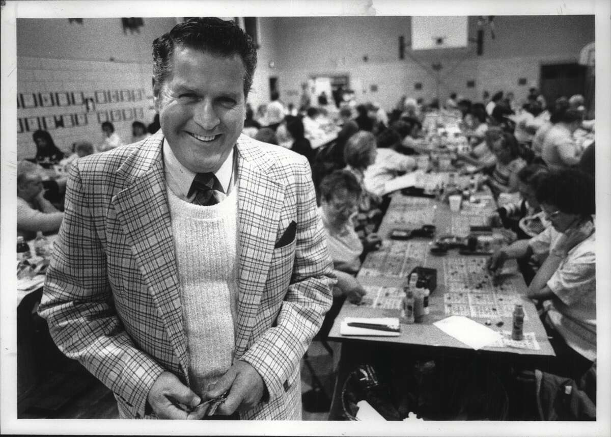 Click through to see Bingo photos from the Times Union archives. Cohoes, New York - Bingo inspector Don McCarthy during Thursday night bingo at St. Marie's Church. December 07, 1989 (John Carl D'Annibale/Times Union Archive)