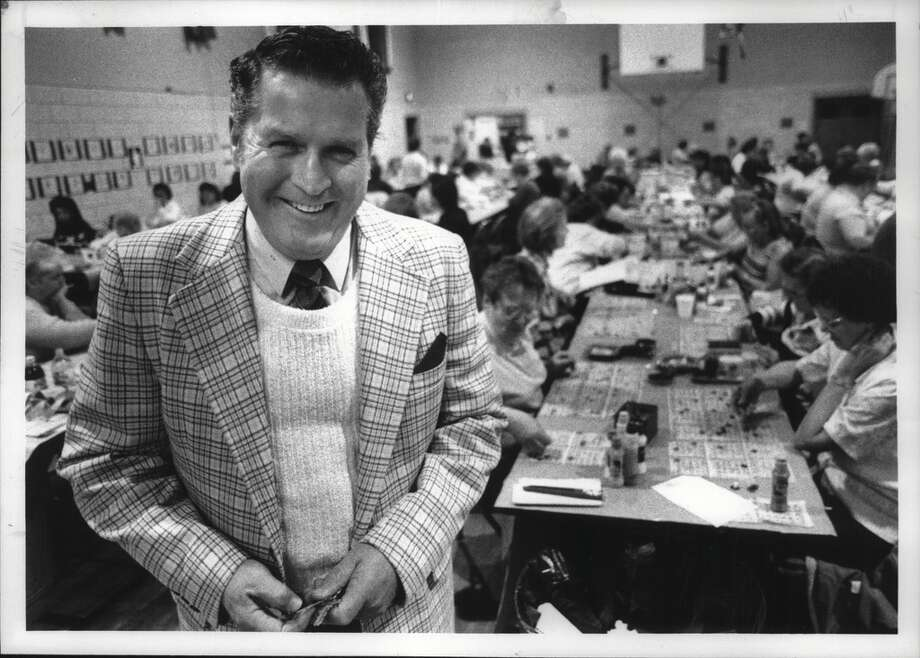 Click through to see Bingo photos from the Times Union archives.  Cohoes, New York - Bingo inspector Don McCarthy during Thursday night bingo at St. Marie's Church. December 07, 1989 (John Carl D'Annibale/Times Union Archive) Photo: John Carl D'Annibale, Times Union Historic Images / Times Union