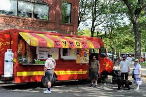 File photo of a food truck in Danbury, Conn, on Saturday, August 6, 2016.