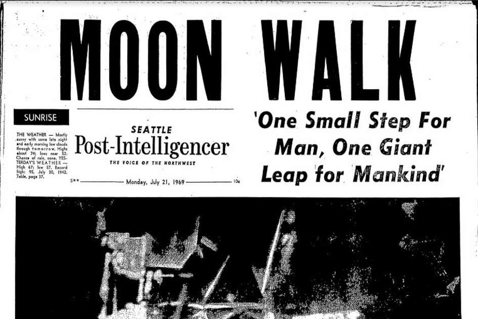 An issue of the Seattle Post-Intelligencer published July 21, 1969.