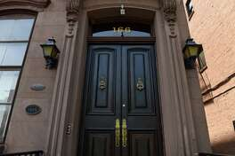 Front door of 166 Washington Avenue on Friday, July 19, 2019, in Albany, N.Y. (Will Waldron/Times Union)