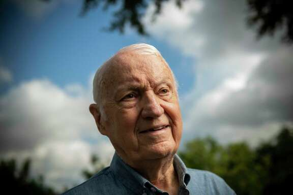"""San Antonio resident James Bigham recalls his part in preparing astronauts Neil Armstrong and Edwin E. """"Buzz""""Aldrin for something no human being had ever done — land a spaceship on the moon in 1969. Bigham helped develop the Lunar Landing Training Vehicle, which first flew Oct. 30, 1964. Armstrong and seven other astronauts piloted the craft, which mimicked the movements the Lunar Module would make as it approached the moon."""