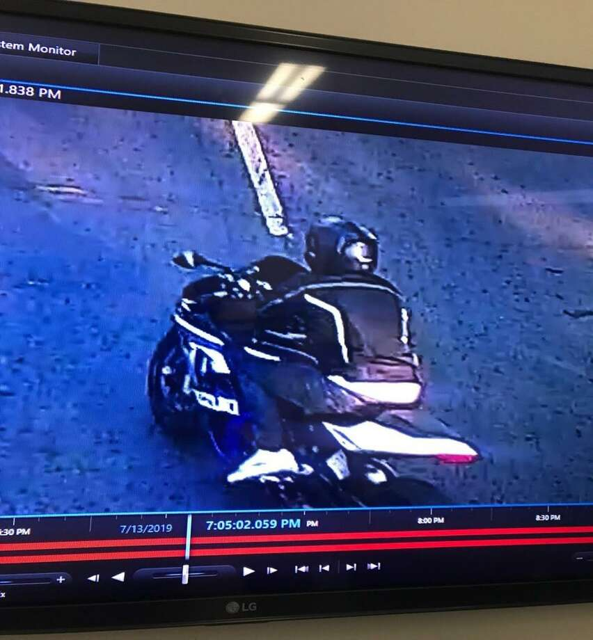 Investigators believe the suspect fled on a Suzuki brand motorcycle. Photo: Contributed