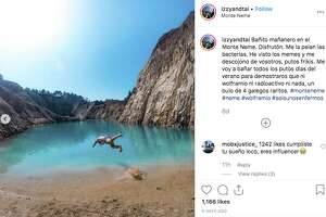"""Multiple Instagrammers were reportedly hospitalized after swimming in a toxic """"lake"""" in Spain."""