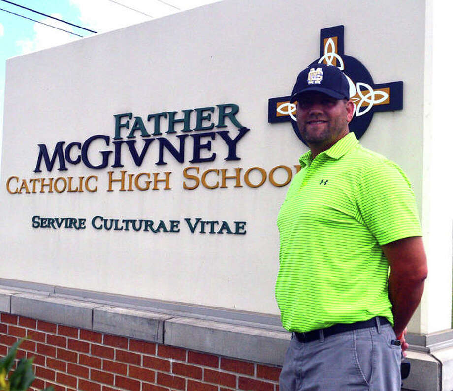 Chris Erwin is the new baseball coach at Father McGivney. He takes over for Paul Johnes, who guided the Griffins a 4-15 record during the inaugural season this spring. Photo: Scott Marion/The Intelligencer