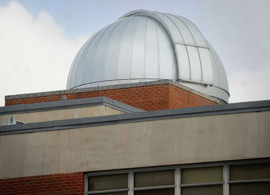The new Ash 5 meter dome atop the Bassick High School observatory in Bridgeport, Conn. on Thursday, February 11, 2016. Photo: Brian A. Pounds / Hearst Connecticut Media / Connecticut Post