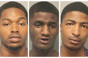 Five male suspects have been charged with felony theft after allegedly stealing more than $4,400 fromSix Flags Hurricane Harbor Splashtown visitors.