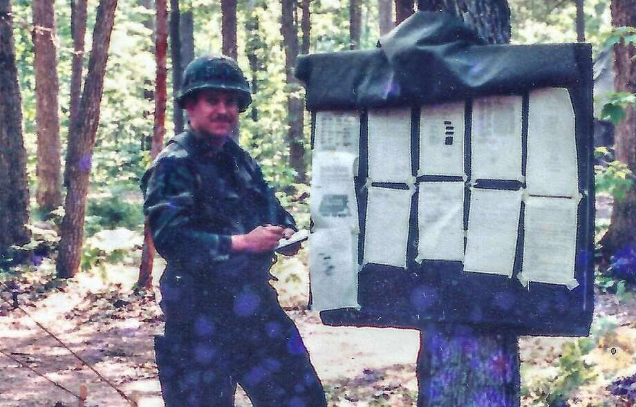 Bo Lotocky served in the U.S. Army in the 1980s in a number of capacities including missile maintenance, working with tanks, and training and range officer. Photo: Contributed Photo / American Legion Post 86 / Wilton Bulletin
