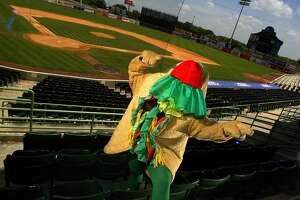 Henry the Puffy Taco, the unofficial mascot for the San Antonio Missions, has root, root, rooted for the home team since 1989.