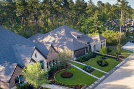 Model homes are shown in The Woodlands Hills. Since the community's inception over 100 new home sales have occurred, according to The Howard Hughes Corp.