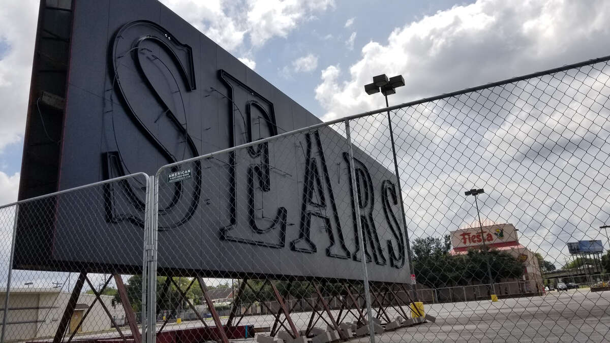 The Sears sign, as it appeared in July 2019.