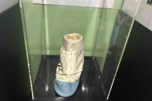 The moonboot prototype developed by GE Silicones, now Momentive, on display at CMOST