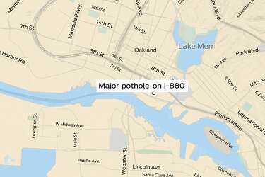 Massive pothole closes 3 lanes on I-880, alternate routes