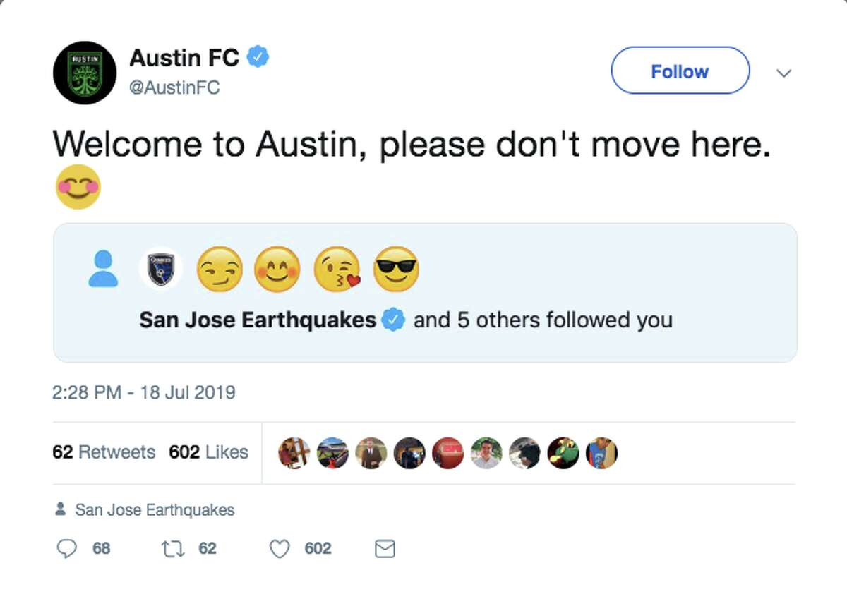 On Thursday, a snarky scuffle unfolded on Twitter between Austin FC and San Jose Earthquakes.