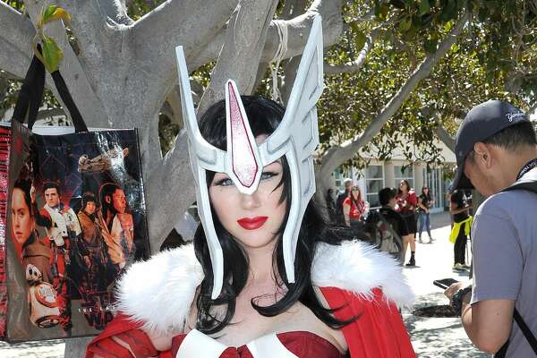A cosplayer attends 2019 Comic-Con International on July 19, 2019 in San Diego, California. (Photo by Albert L. Ortega/Getty Images