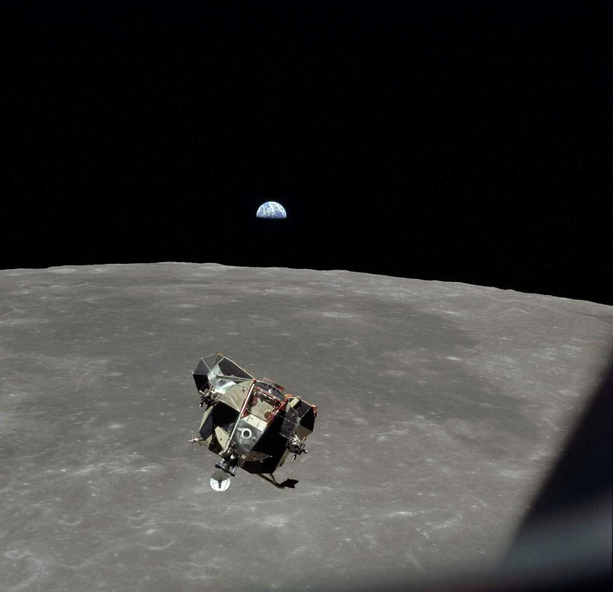 This photo obtained from NASA, shows the Eagle Lunar Module of the Apollo 11 space mission in lunar orbit, July 20, 1969.