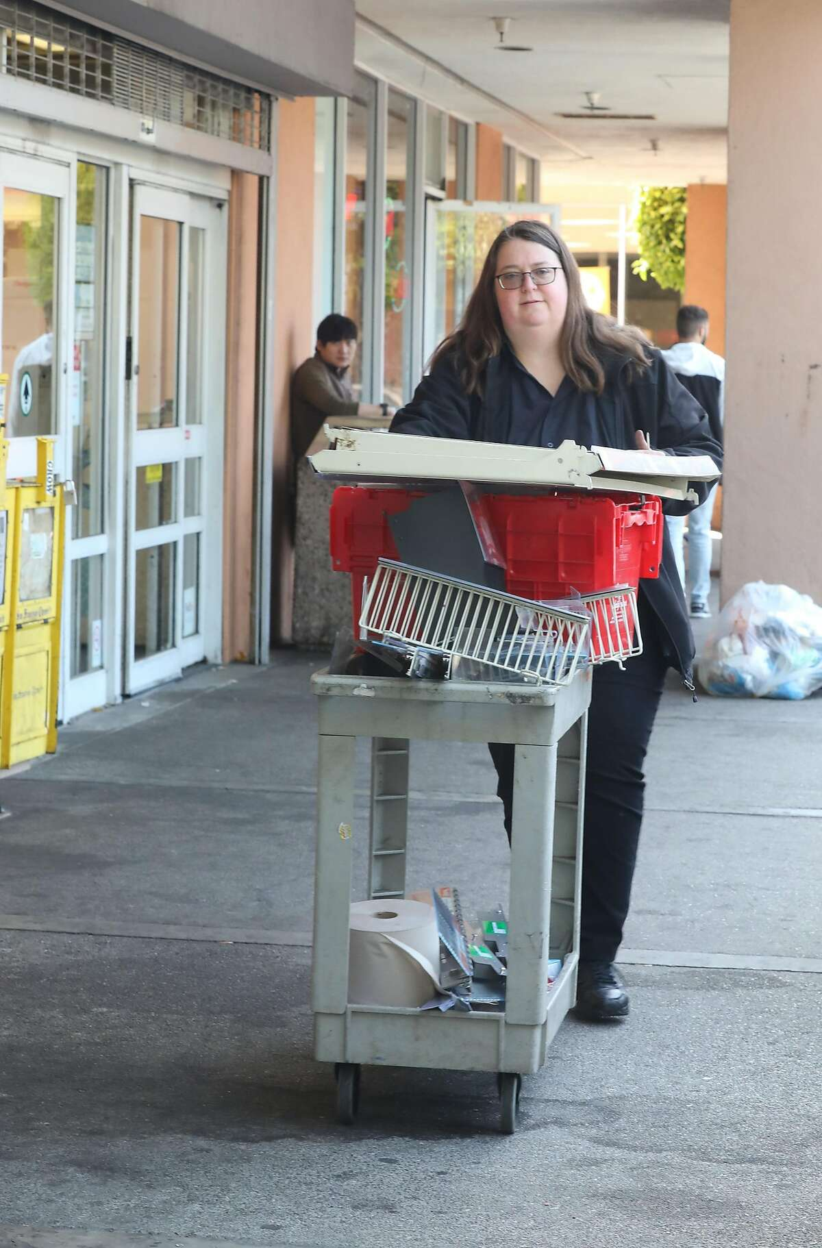 Walgreens display shelves seen being moved on Friday, July 19, 2019 in San Francisco, Calif. After 30 years in Bayview Plaza, Walgreens is closing shop and leaving just one other location, which will be the only drugstore in the Bayview Hunters Point neighborhood, much to the dismay of residents and nearby businesses.