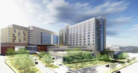 University Health System's new women and children's tower shown in this architectural rendering is expected to be completed in late 2022.