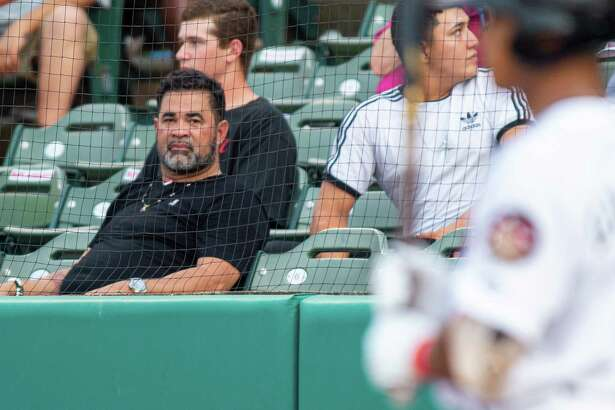 Major League Baseball legend Ozzy Guillen was in town to watch his son, Ozney Guillen, manage the Tri-City ValleyCats against the Lowell Spinners at the Joseph L. Bruno Stadium in Troy NY on Friday, July 19 2019 (Jim Franco/Special to the Times Union.)