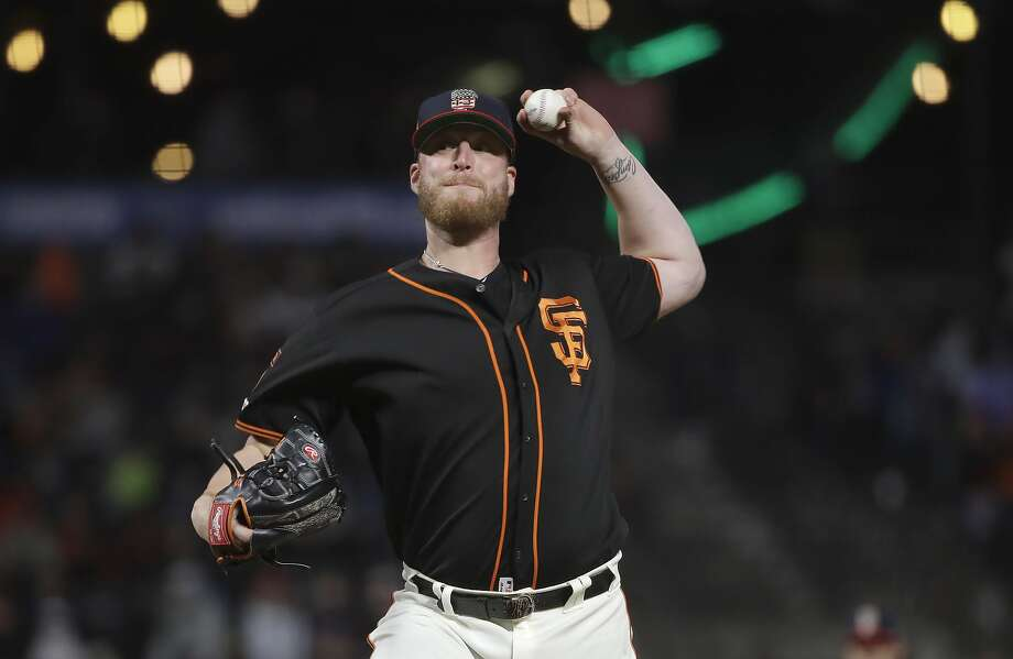San Francisco Giants pitcher Will Smith throws against the St. Louis Cardinals during the ninth inning of a baseball game in San Francisco, Saturday, July 6, 2019. (AP Photo/Jeff Chiu) Photo: Jeff Chiu / Associated Press