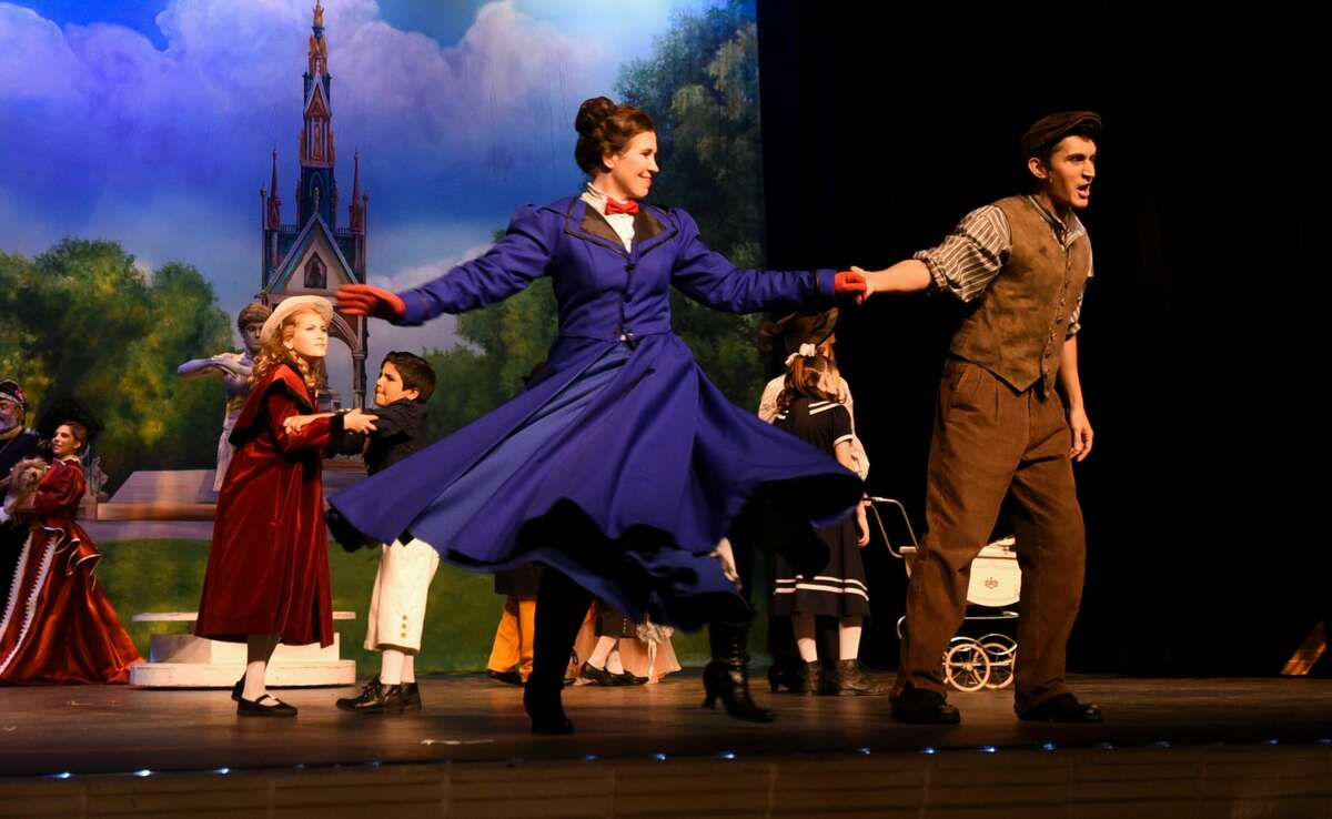 Laredo Theater Guild International's Mary Poppins performs during a media night on Tuesday, Jul 16, 2019, at Laredo College's Guadalupe and Lilia Martinez Fine Arts Center.