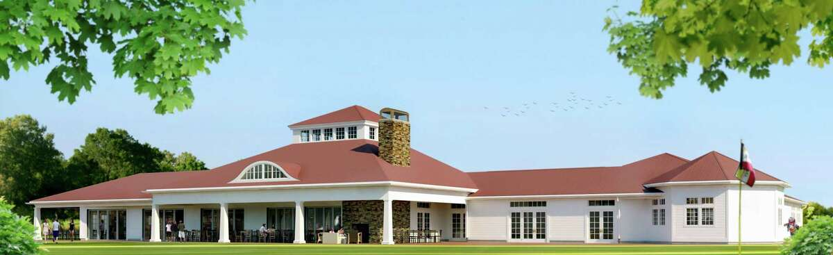 A rendering of plans for the new clubhouse's exterior.