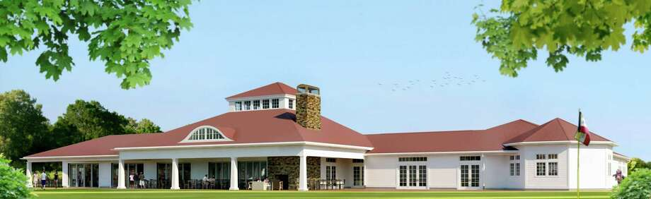 A rendering of plans for the new clubhouse's exterior. Photo: Contributed Photo
