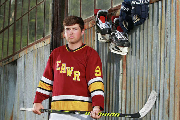 Senior Kaleb Harrop East Alton-Wood River, scored 43 goals and added five assists in the 2018-19 season and is The Telegraph Hockey Player of the Year.