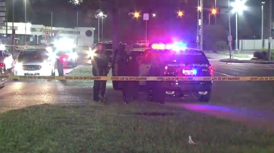 A Harris County Sheriff's deputy shot a man early Saturday morning in northwest Houston after the man reached for a handgun, officials said. Photo: Metro Video
