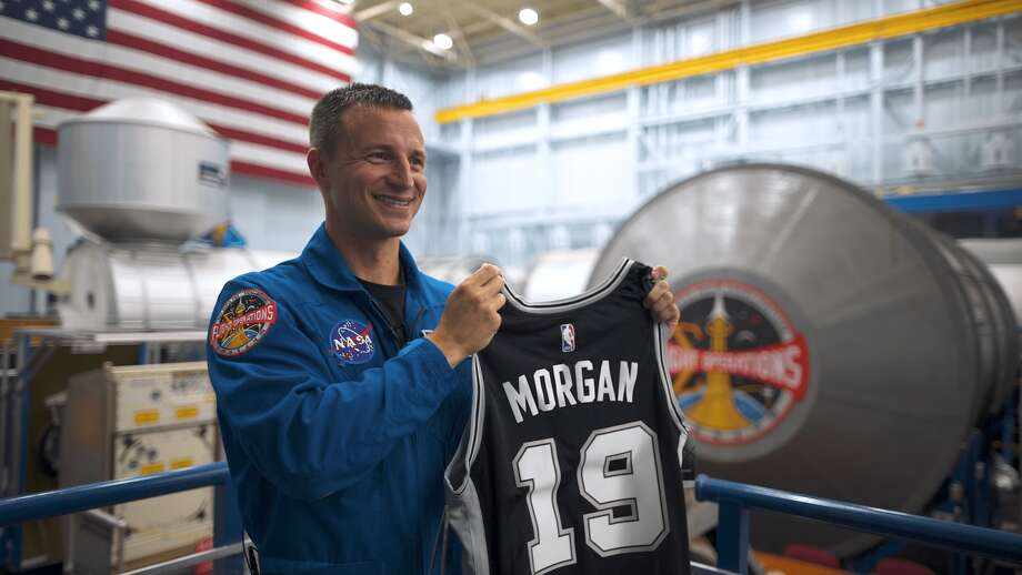 On July 20, 2019, the 50th anniversary of the Apollo 11 mission, a San Antonio Spurs jersey will be making its way to outer space for the first time ever, in the hands of NASA Astronaut Lt. Col. Andrew Morgan. Photo: San Antonio Spurs